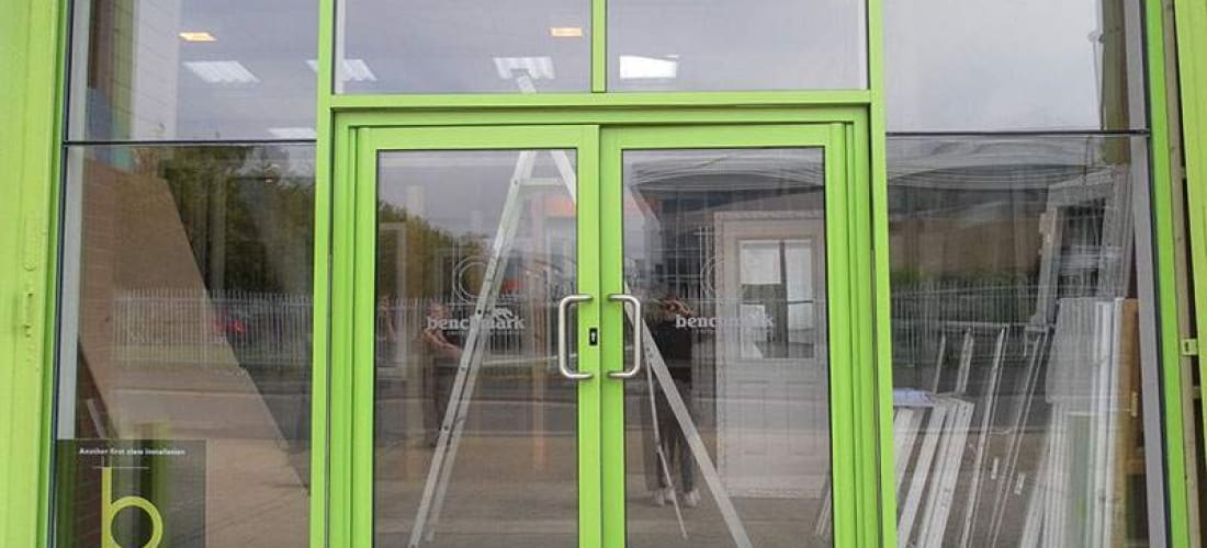 commercial double doors